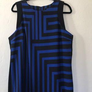 Mossimo xxl sleeveless dress blue/ black striped